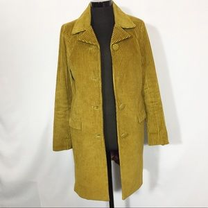 Missoni for Target Green Corduroy Trench Coat S